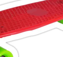 Retro Skate - Red version - Amazing transparente effect Sticker