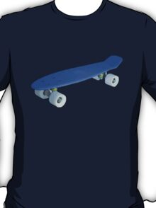 Blue retro Skate - Amazing 3D transparent Effect T-Shirt