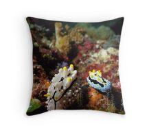 Two Nudibranchs Macro Throw Pillow