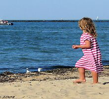 #515   Little Girl On The Beach by MyInnereyeMike