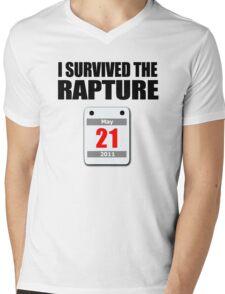 I Survived The Rapture (May 2011) Mens V-Neck T-Shirt