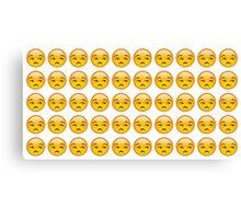 annoyed emoji Canvas Print