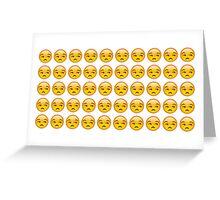 annoyed emoji Greeting Card