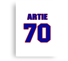 National football player Artie Smith jersey 70 Canvas Print