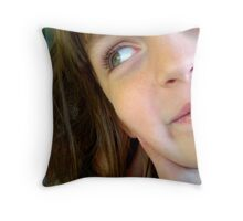 A Young Face Throw Pillow