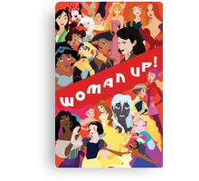 Woman Up! Canvas Print