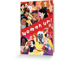 Woman Up! Greeting Card