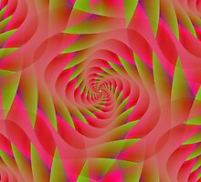 Red & green spiral by Objowl