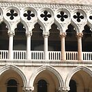 Detail Of The Ducal Palace In St Marks Square Venice by Honor Kyne