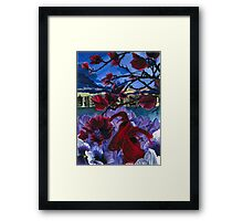 Fish and Flowers (Elegant) Framed Print