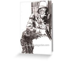 corections - riot gear Greeting Card