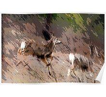Bounding Deer Poster