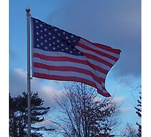Flag of the USA, Red, White and Blue Photographic Print