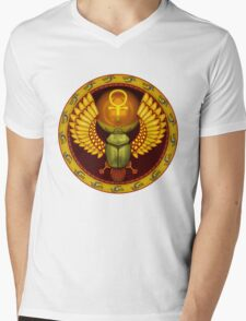 Symbol of the god the sacred solar bug Mens V-Neck T-Shirt
