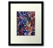 Meditation Under the Solemnity of the Midnight Sky  Framed Print