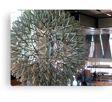 Star Burst Sculpture Suspended From the Ceiling Canvas Print