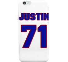 National football player Justin Trattou jersey 71 iPhone Case/Skin