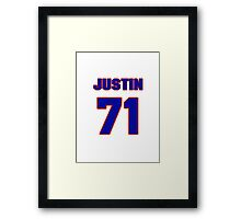 National football player Justin Trattou jersey 71 Framed Print