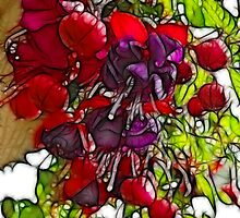 Purple and Fuschias by Francine Dufour Jones