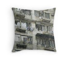 Hong Kong City Living Throw Pillow