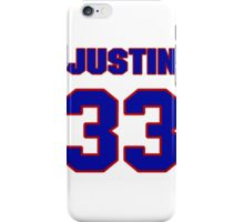 National football player Justin Rowland jersey 33 iPhone Case/Skin
