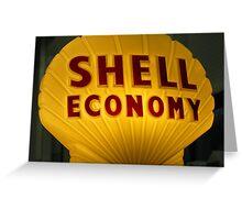 Shell Economy Greeting Card