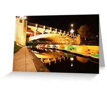 The river paddle boats @ night Greeting Card