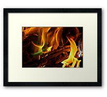 Magical Flames Framed Print