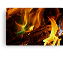 Magical Flames Canvas Print