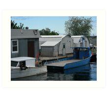 Superior boat Art Print