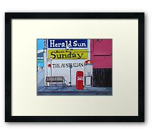 Newspapers Framed Print