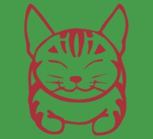 Happy Cat -Tabby (red) - Large pic by artbyakiko
