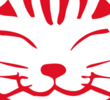 Happy Cat -Tabby (red) - Large pic Sticker