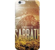 Commandment 4 - Remember The Sabbath iPhone Case/Skin