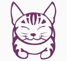 Happy Cat - Tabby (purple) - Large pic by artbyakiko