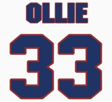 National football player Ollie Cline jersey 33 by imsport