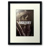 Commandment 7 - Adultery  Framed Print