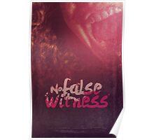 Commandment 9 - No False Witness Poster