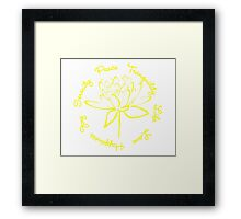 Serenity Tranquility Lotus (Yellow) Framed Print