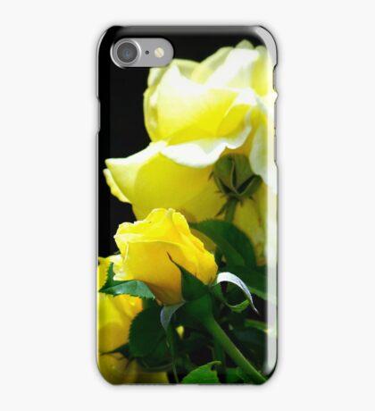 bright shining yellow roses iPhone Case/Skin