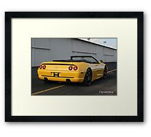 FERRARI F355 GOLDEN HOUR TARMAC  Framed Print