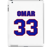 National football player Omar Easy jersey 33 iPad Case/Skin