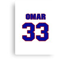 National football player Omar Easy jersey 33 Canvas Print
