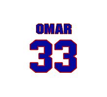 National football player Omar Easy jersey 33 Photographic Print