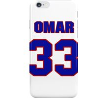 National football player Omar Easy jersey 33 iPhone Case/Skin