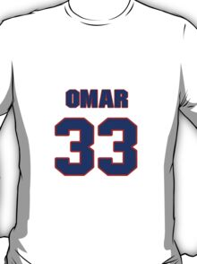 National football player Omar Easy jersey 33 T-Shirt