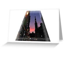 The City By Night  / Quebec   Greeting Card