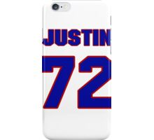 National football player Justin Cheadle jersey 72 iPhone Case/Skin