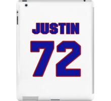 National football player Justin Cheadle jersey 72 iPad Case/Skin