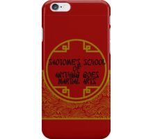 Anything Goes Martial Arts iPhone Case/Skin